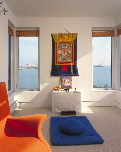 Meditation room modern media room