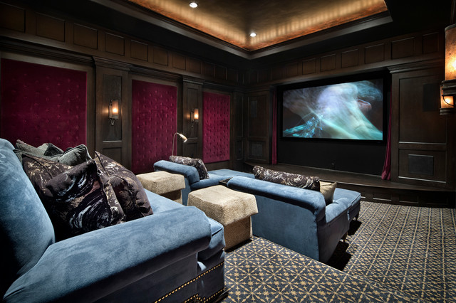 Memorial moroccan mediterranean home theater houston by jauregui architecture interiors for Maison moderne de luxe interieur