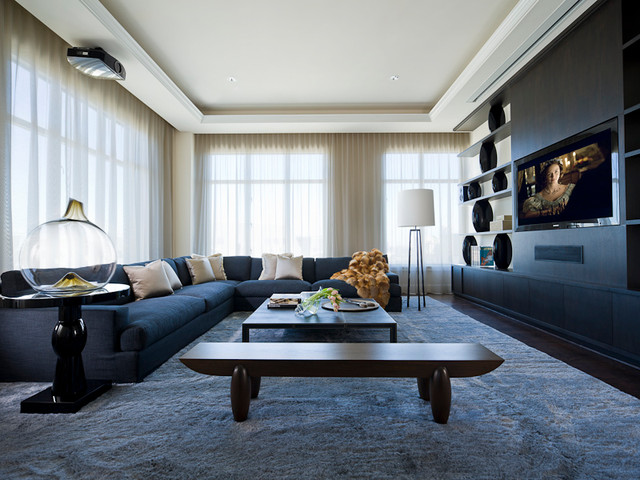 MICHAEL MOLTHAN LUXURY HOMES INTERIOR DESIGN GROUP Modern Home Theater