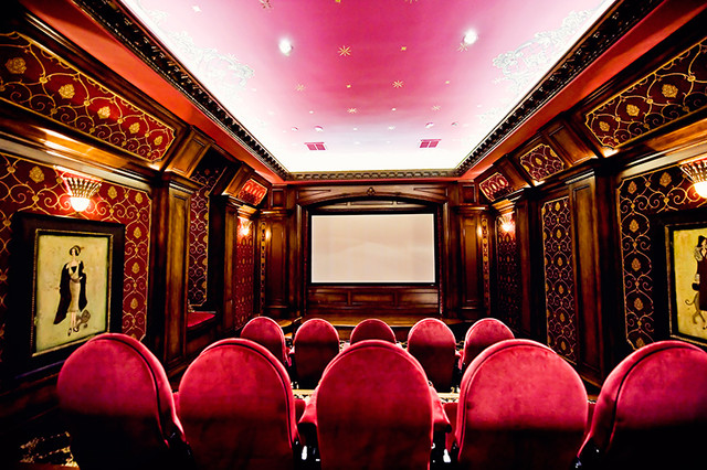 MICHAEL MOLTHAN LUXURY HOMES THEATERS traditional-home-theater