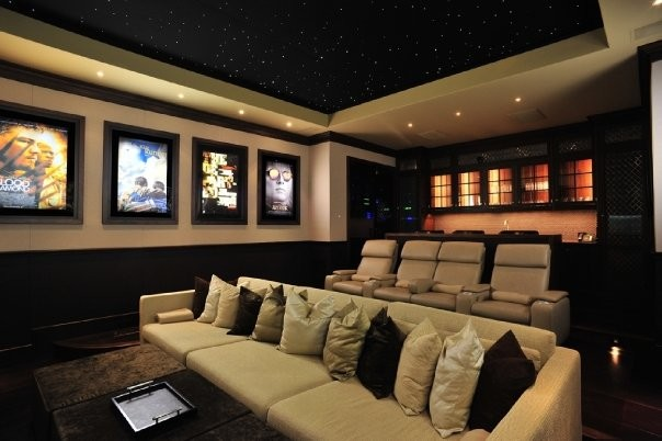 MICHAEL MOLTHAN LUXURY HOMES THEATERS - Traditional - Home ...