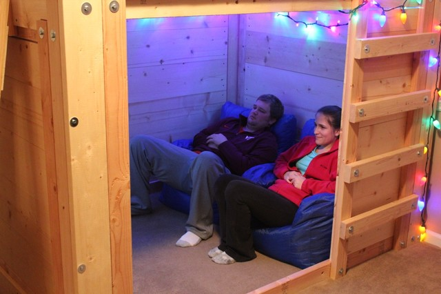 Man Cave Bed Ideas : Micro man cave rustic home theater charleston by