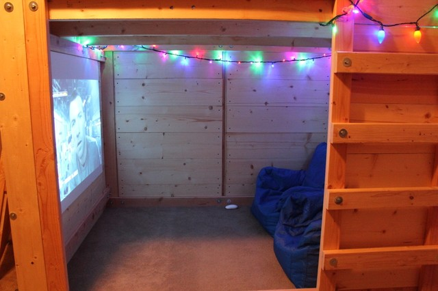 Micro Man Cave Rustic Home Theater Charleston By