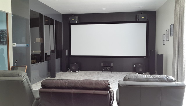 Minimalist Home in Malaysia Modern Home Cinema Other
