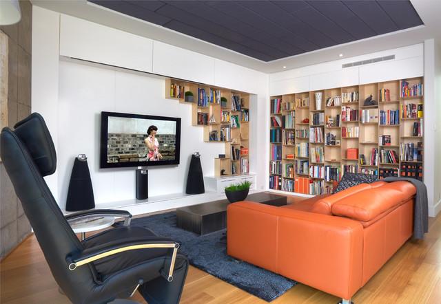 Modern cool modern-home-theater