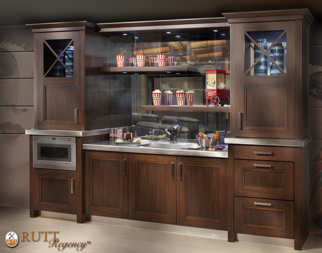 Modern Craftsman Entertainment Bar modern media room
