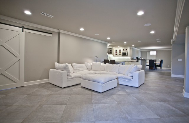 Transitional home theater photo in Other