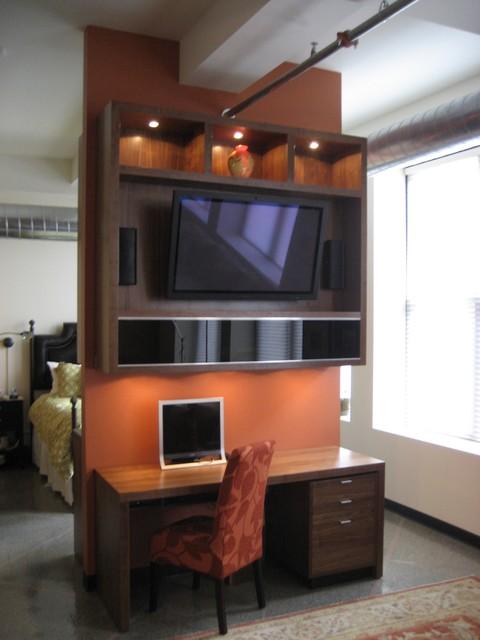 Modern entertainment unit modern-home-theater