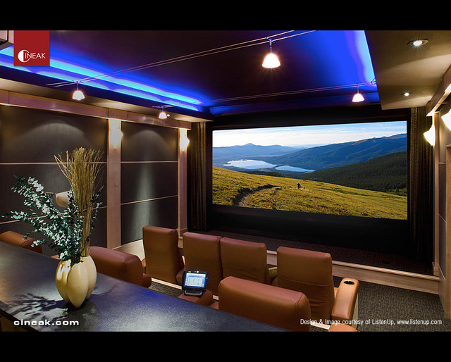 Modern home theater for Modern theater room