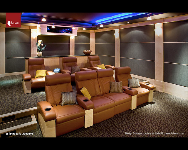 Image gallery modern media room seating for Luxury home theater rooms