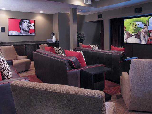 Kenyon Square modern media room