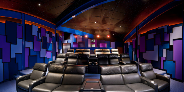 modern home theater contemporary home theater - Home Theater Design