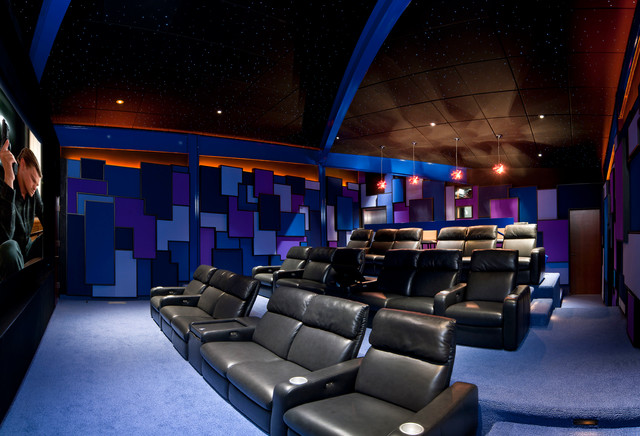 Modern home theater Modern home theater design ideas
