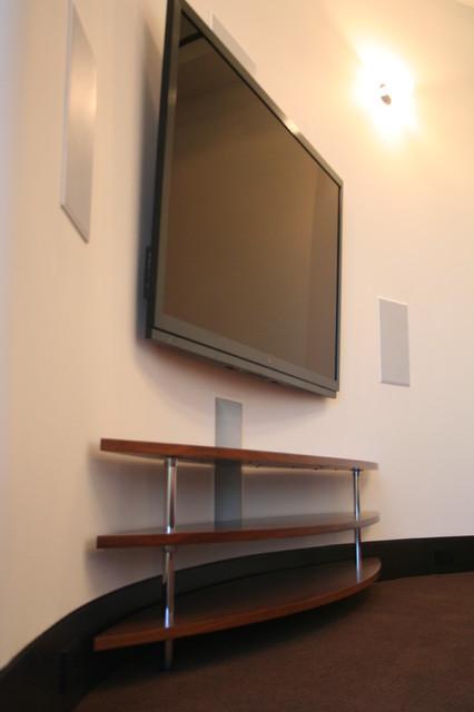 Modern Houston Home home-theater