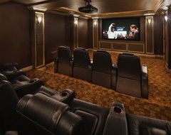 Modern Marvel traditional media room