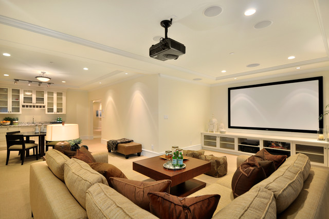 Modern Media Room modern-home-theater