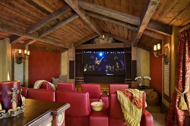 Modern Media Room modern-home-theater