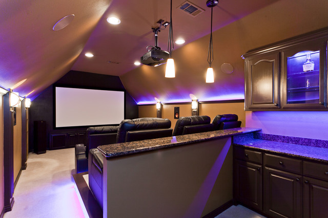 Modern Media Spaces contemporary-home-theater