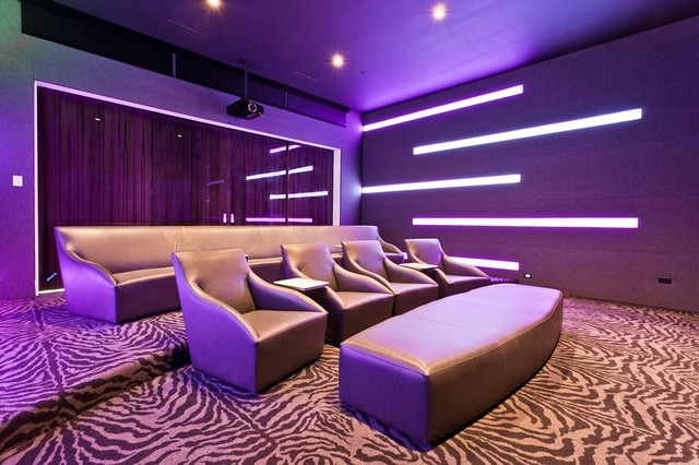 Modern Media Spaces - Modern - Home Theater - Dallas - By Stellar