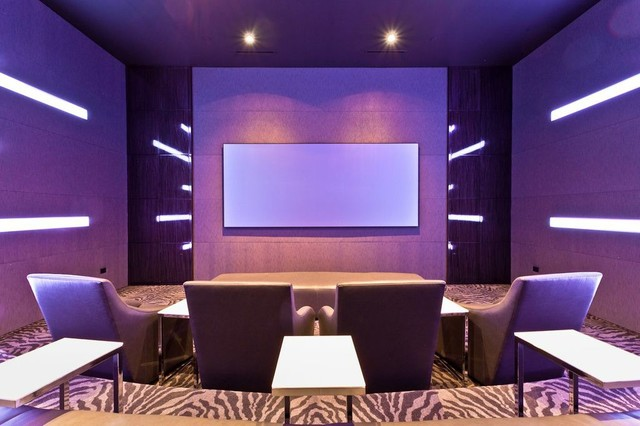 spaces modern home theater dallas by starlight home theater