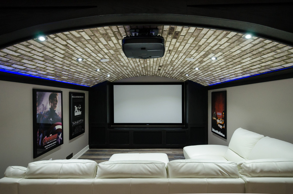 Modern Movie Room Basement Remodel Contemporary Home Theater Calgary By Re Invent Renovations