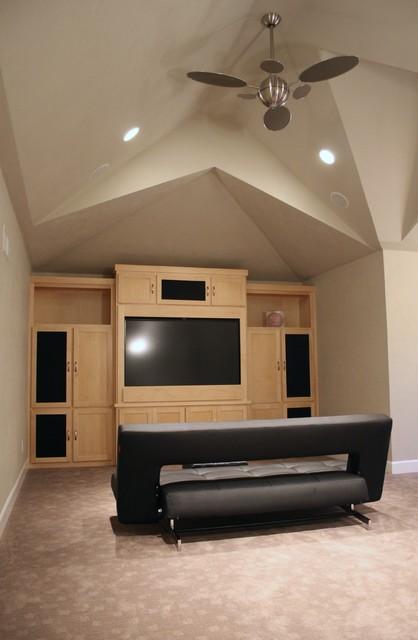 Modern Recreation + Theater Room modern-home-theater