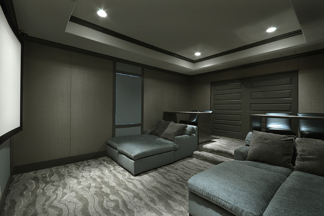 Modern theater room contemporary home theater for Modern theater room
