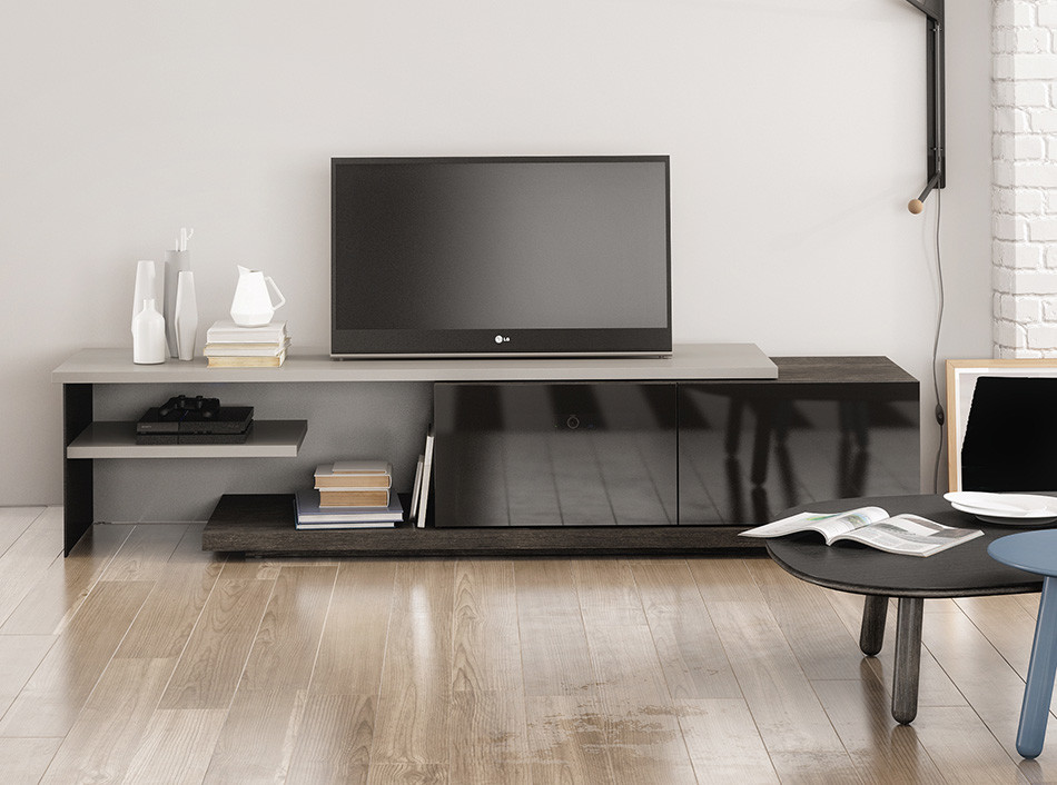 Modern Tv Stand Inverse By Huppe 1 987 00 Modern Home Theater New York By Valentini Kids Furniture Brooklyn Ny