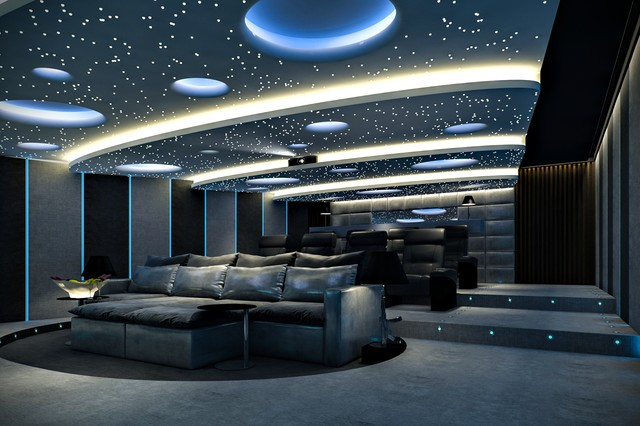 Moderno cine en casa Modern home theater design ideas
