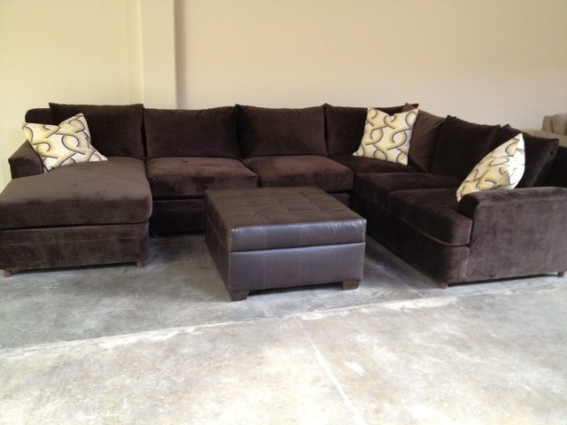Monica Style Comfy Extra Deep And Plush Home Theater Los Angeles By Monarch Sofas