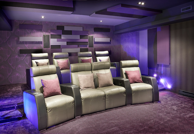montreal home theater contemporary home theatre montreal by maria deschamps design. Black Bedroom Furniture Sets. Home Design Ideas