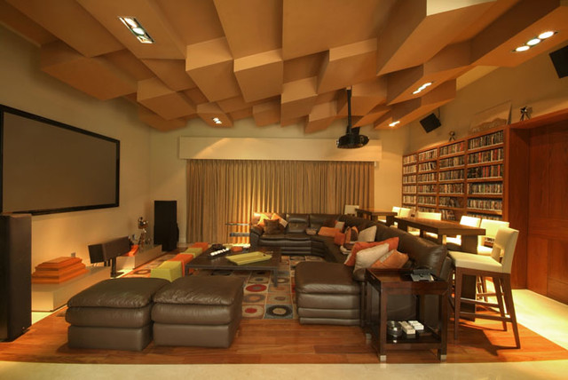 contemporary media room by Aurelio Vazquez