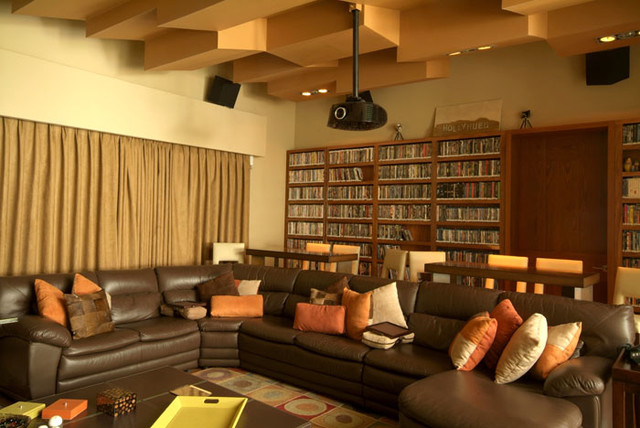 MoRo house contemporary-home-theater