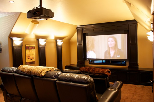 Movie Room Bar Modern Home Theater Portland By