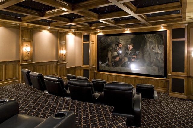 Movie Theater Traditional Home Minneapolis By John Kraemer amp Sons