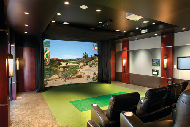 Multi purpose media room traditional home theater for Interior design room simulator