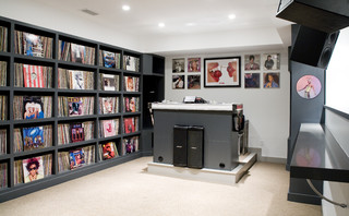 Music Dj Room Transitional Home Theater Boston By