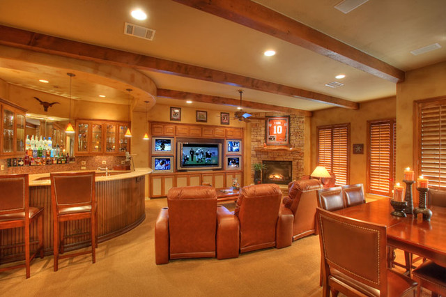neuvo traditional traditional home theater austin