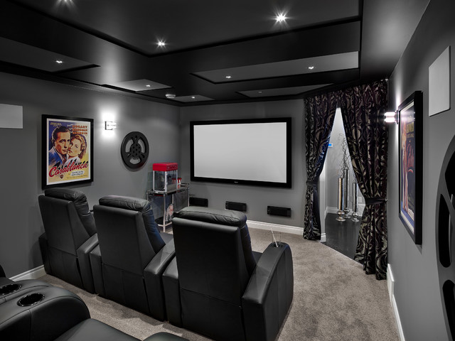 New Hampshire In Allard Transitional Home Theater Edmonton