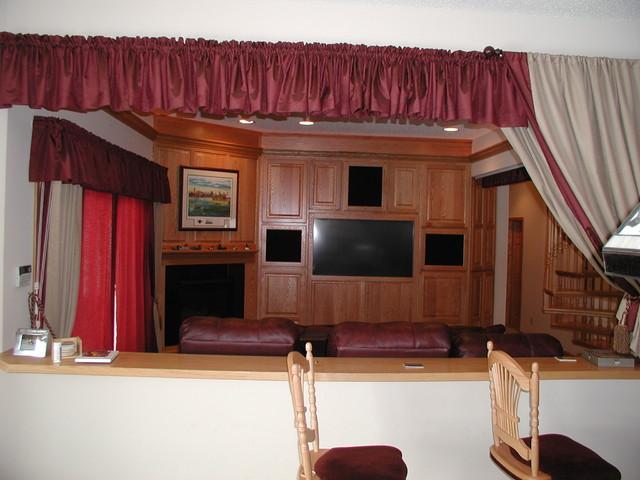 New House on Lake Minnetonka traditional-home-theater