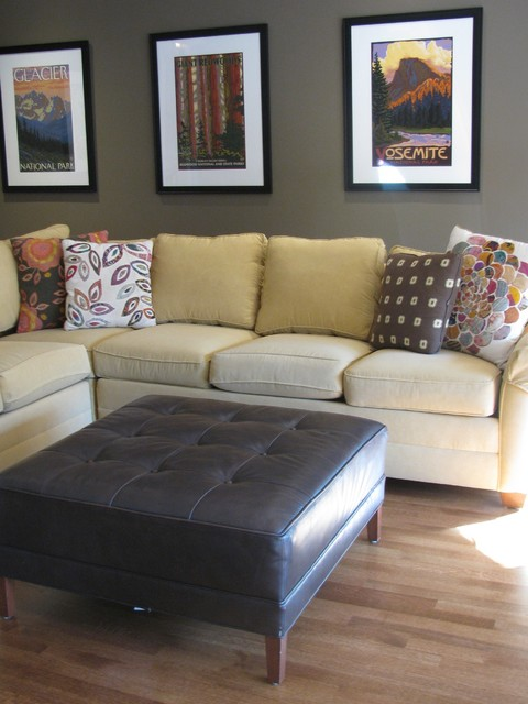 Newton House eclectic-home-theater