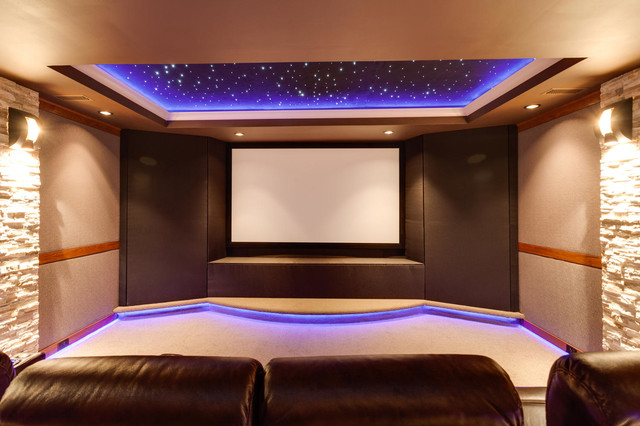 Night Sky Home Theater Room