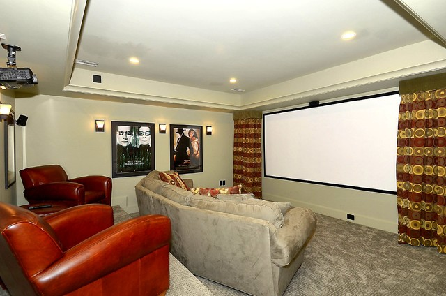 Leesburg, Virginia Farmhouse (Watson) traditional-home-theater