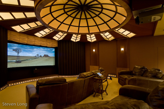 oak room contemporary-home-theater