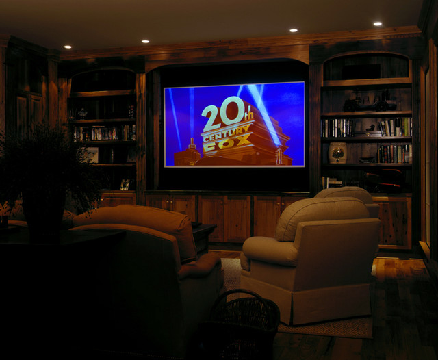 Ocean Course Drive Residence traditional-home-theater