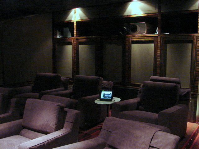 Office, Bar & Theater contemporary-home-theater