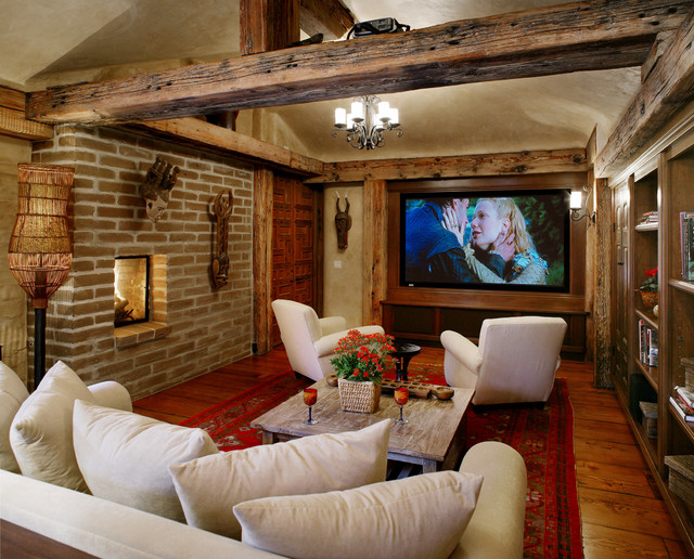 Old Adobe Renovation & Addition southwestern-home-theater