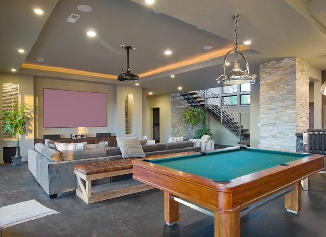 Overlook Show Home contemporary-home-theater
