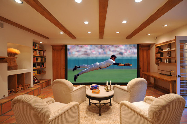Palisades Custom Home Theater traditional media room