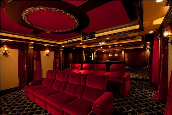 PACIFIC PALIZADES-BARDI eclectic-home-theater